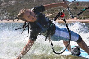 Kiteboarding Lake Michigan is extreme!