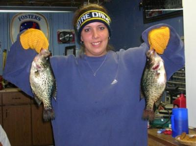 Michigan crappies through the ice.