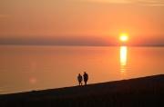 Michigan sunset beach walk.