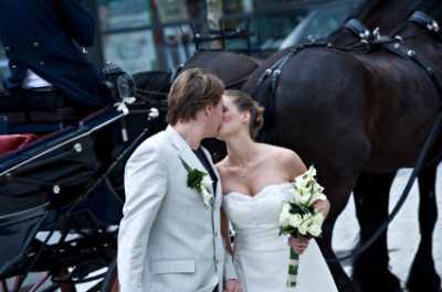Mackinac Island wedding carriage