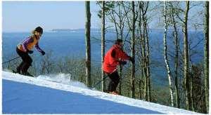 Ski scenic northern Michigan.