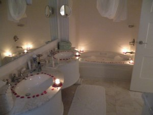 Even the bathroom oozed romance!