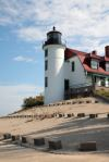 Point Bessie Lighthouse near Sleeping Bear Dunes.
