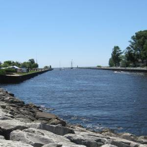 South Haven Michigan harbor entrance.