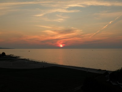 Awesome Lake Michigan sunset.