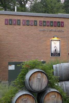 Entrance of Left Foot Charlie tasting room.
