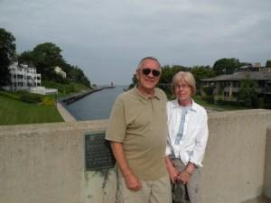 Here we are on the drawbridge in beautiful Charlevoix.