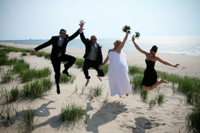 A Lake Michigan Beach Wedding Is Truly