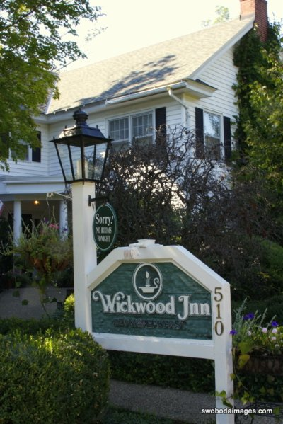 The beautiful Wickwood Inn in Saugatuck, MI.