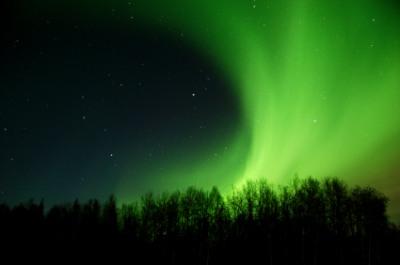 Northern lights in northern Michigan.