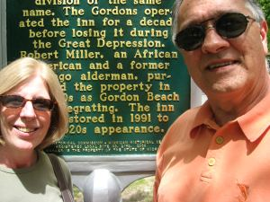 Here we are in front of Gordon Beach Inn.