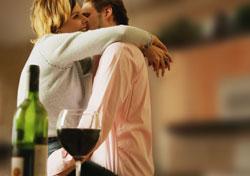 Romantic Michigan wine tasting.