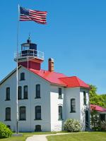 Grand Traverse lighthouse Northport Michigan.