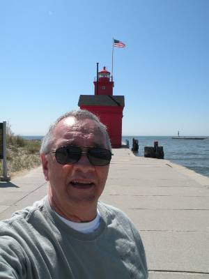 Holland Michigan's famous Big Red Lighthouse.