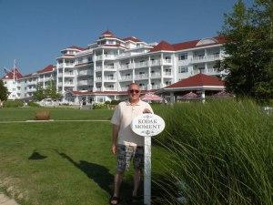On the beachside of The Inn at Bay Harbor.