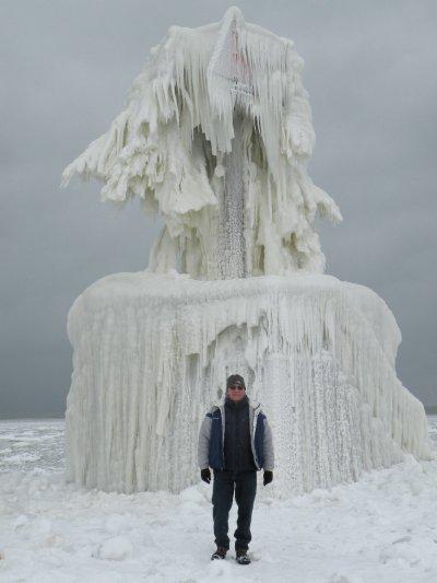 Michigan winter ice sculpture.