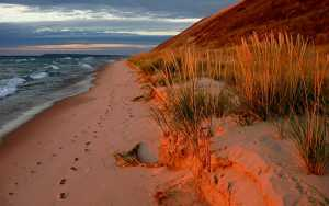 Northen Michigan fall dune sunset. Photo courtesy of Lars Jensen