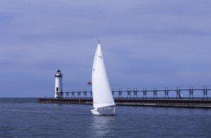 Lake Michigan marina.