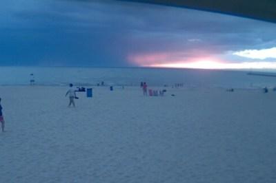Storm offshore near St. Joseph Michigan.