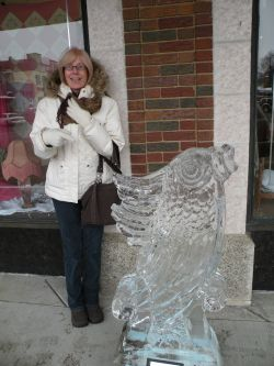 Sue loves Michigan Ice Festivals.
