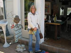 Sue outside a Michigan Art gallery in Harbor Country.