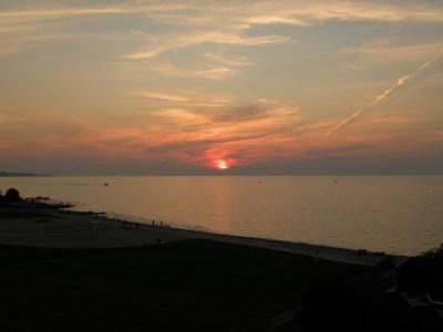 Awesome Lake Michigan sunset.